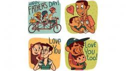 Facebook celebra el Día del Padre con stickers especiales