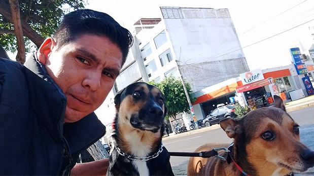 Ronald Castro Vásquez con Chaska y Elius