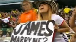 James Rodríguez: aficionada le pide matrimonio en Copa América