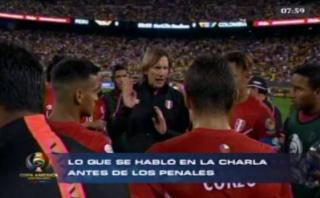 Ricardo Gareca: lo que le dijo a jugadores antes de los penales