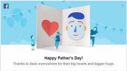 Facebook celebra el Día del Padre con una tarjeta virtual
