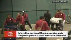 Selección arribó a la capital y fue recibida por la hinchada