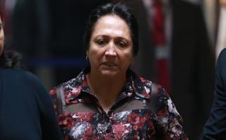 Admiten comparecencia restringida para madre de Nadine Heredia