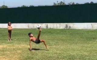 Mira el gol de chalaca del hijo de Cristiano Ronaldo