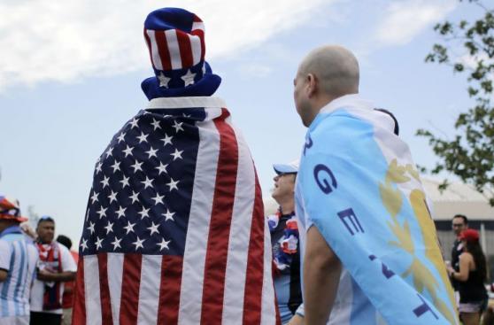 Así se vive la previa del Argentina-Estados Unidos en Houston