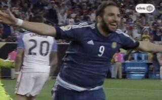 Argentina: Gonzalo Higuaín decretó así 3-0 sobre EE.UU. [VIDEO]