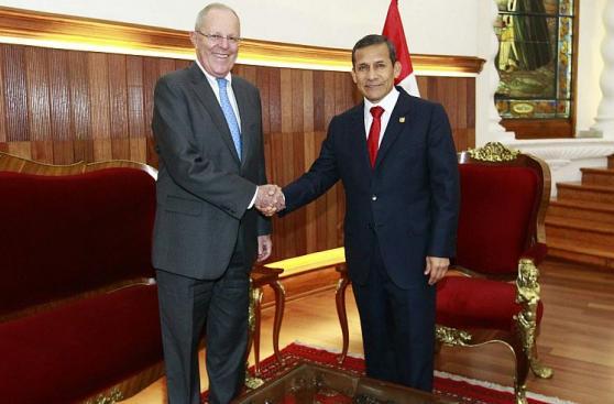 Así fue la llegada de PPK a la reunión con Ollanta Humala