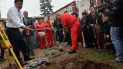 Surco: empezó construcción de nueva estación de bomberos