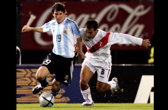 Lionel Messi y los partidos que enfrentó a la selección peruana