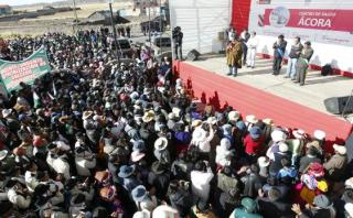 Reclaman a Humala provincialización de distrito puneño de Ácora