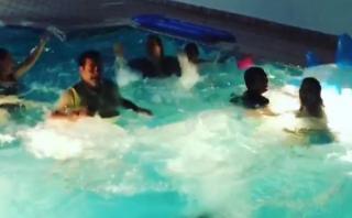 La familia de CR7 celebró triunfo de Portugal saltando al agua