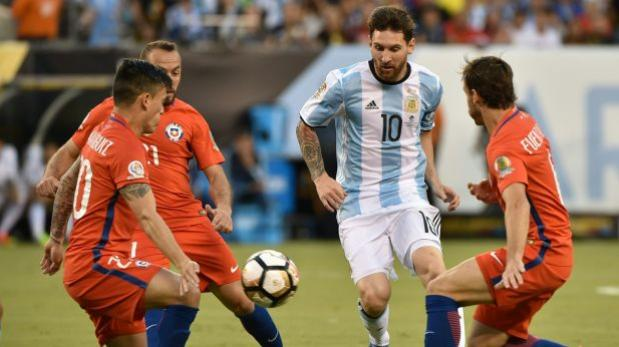 Seguí en vivo Argentina vs Chile online [penales]