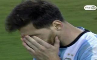 Lionel Messi envió al 'cielo' su penal en la tanda final