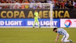 Lionel Messi anunció su retiro de la selección argentina