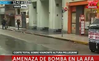 Argentina: amenaza de bomba al edificio de la AFA