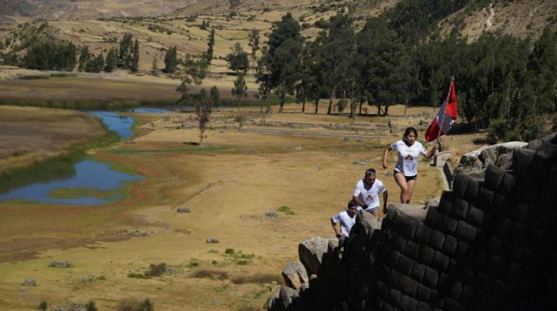 """La carrera denominada """"mega maratón de nuevos chasquis"""" finalizó en Cusco tras 14 días y casi 1500 kilómetros recorridos. (Foto: Martín Chumbe)"""