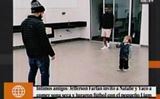 Jefferson Farfán jugó fútbol con hijo de Natalie y Yaco