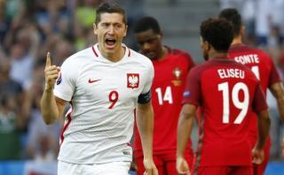 Lewandowski marcó a Portugal su primer gol en la Eurocopa 2016