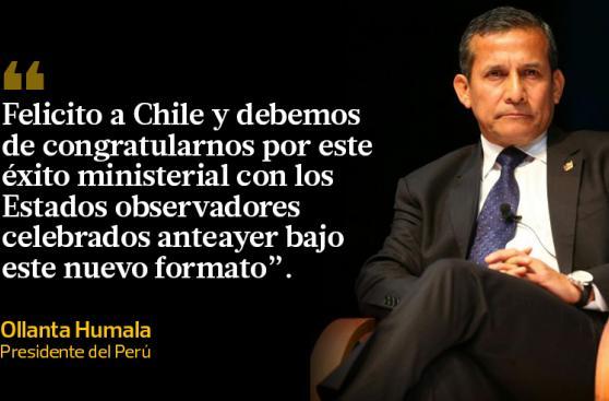 Humala se despide de la presidencia de la Alianza del Pacífico