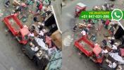 Callao: hicieron de la pista un centro de acopio de chatarra