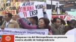 Metropolitano: bloquearon vía a la altura de estación Naranjal - Noticias de proyectos inmobiliarios