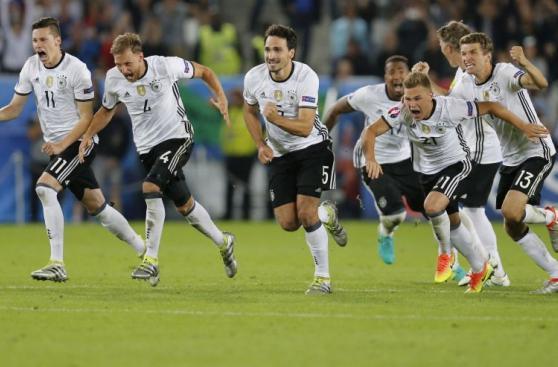 La felicidad y emoción de Alemania por pase a semifinales