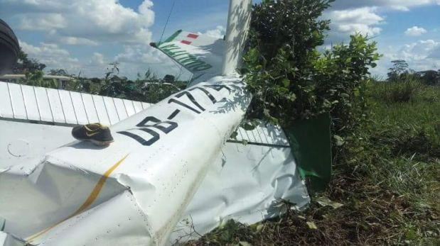 Avioneta se estrelló contra terreno de cultivo en Pucallpa