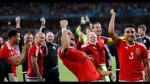 Gareth Bale y una eufórica celebración con todo Gales - Noticias de ashley williams