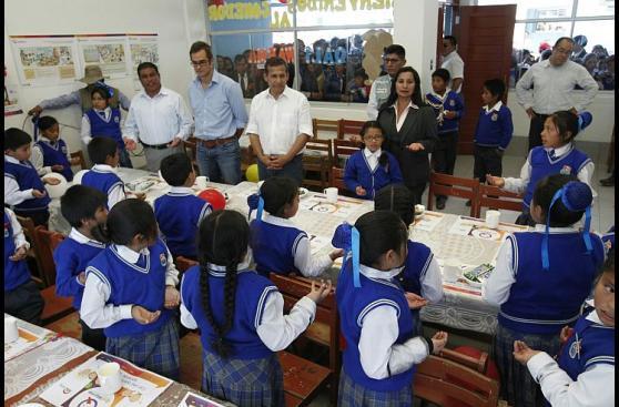 Ollanta Humala inauguró obras en centro educativo de Áncash