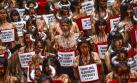 Activistas de PETA y Anima Naturalis protestan en Pamplona