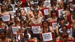 Activistas de PETA y Anima Naturalis protestan en Pamplona - Noticias de barcelona