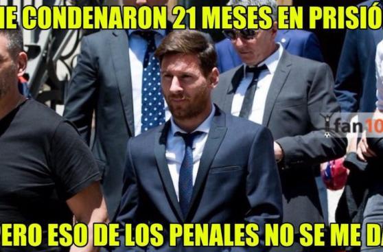 Facebook: Lionel Messi es el centro de los memes por su condena