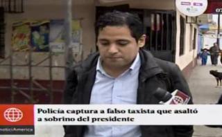 Capturan a presunto asaltante que atacó a sobrino de Humala