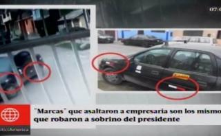 Robo a sobrino de Humala: mismo auto se usó contra comerciante