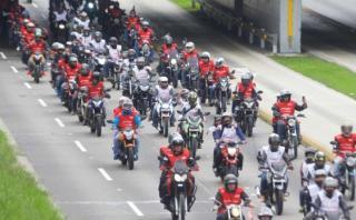 Fiestas Patrias: motociclistas formarán larga bandera peruana