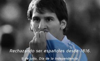 Lionel Messi en el mensaje de TyC por el Bicentenario argentino