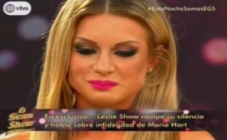 """El gran show"": Leslie Shaw habló de infidelidad de Mario Hart"
