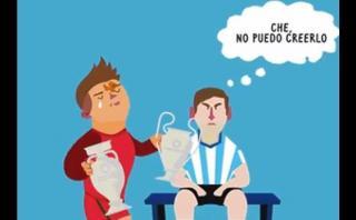 Cristiano Ronaldo luce sus copas ante Messi en divertido GIF
