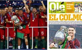 """Portugal: """"Olé"""" lamentó título luso en la Euro con esta portada"""
