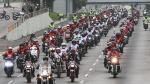 Fiestas Patrias: motociclistas forman bandera de 5 kilómetros - Noticias de ordenanza municipal
