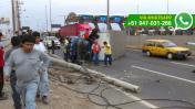 Volcadura de camión dejó un herido en la Panamericana Sur