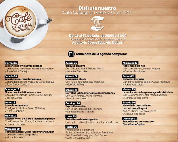 [Foto] Café Cultural de El Dominical en la FIL Lima 2016