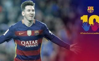 Messi: piden a Barcelona retirar campaña en defensa del '10'