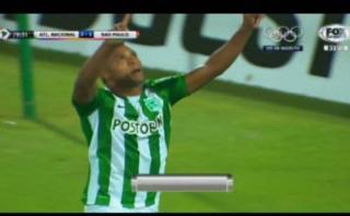 Atlético Nacional marcó de penal el 2-1 ante Sao Paulo [VIDEO]