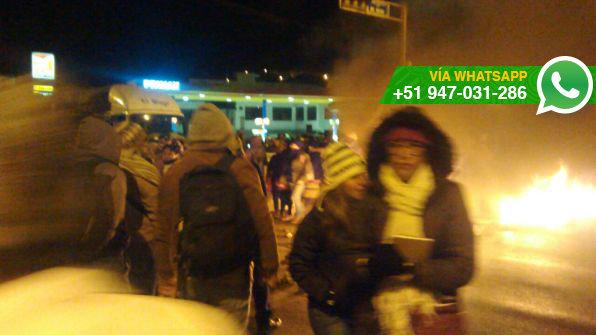 Pobladores de Junín protestaron contra creación del distrito Tambo del Ene (Foto: WhatsApp El Comercio)