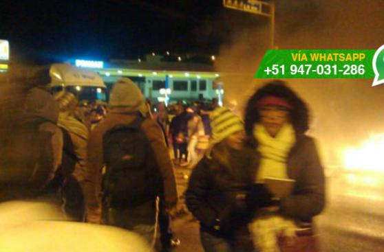 Carretera Central: bloquean vía como medida de protesta
