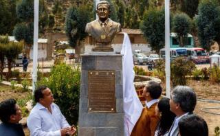 Ollanta Humala inauguró busto en su honor en Ayacucho [FOTOS]