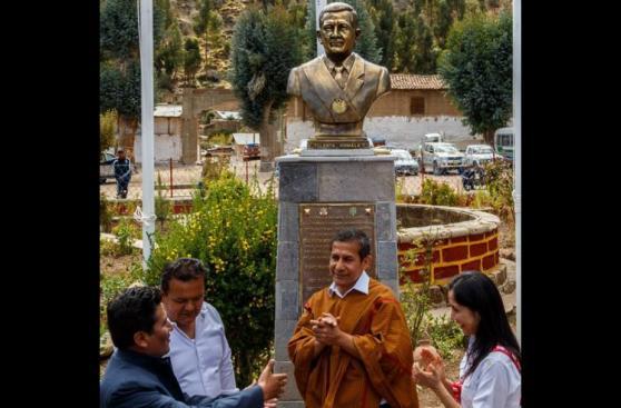 Busto de Humala en Ayacucho se hizo con