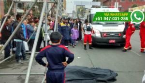 Hombre murió tras caer de escenario que armaba en Breña