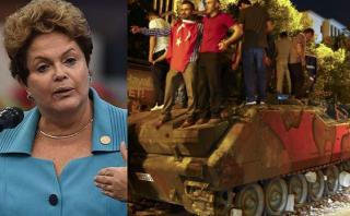 Dilma compara intento de golpe en Turquía con juicio político